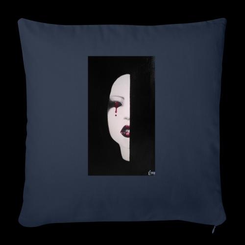BlackWhitewoman - Cuscino da divano 44 x 44 cm con riempimento