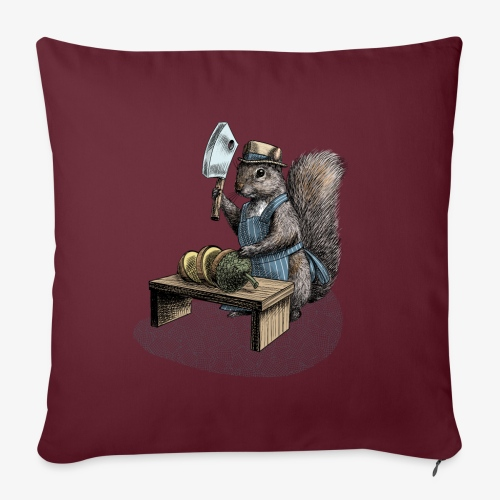 Squirrel nut cracker - Sofa pillow with filling 45cm x 45cm