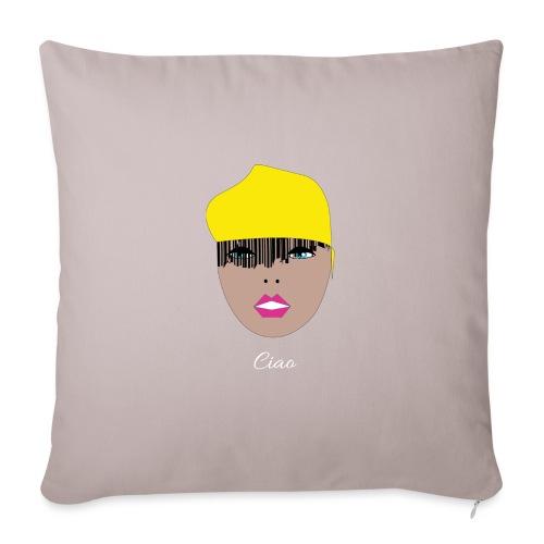 Yellow lady - Soffkudde med stoppning 44 x 44 cm