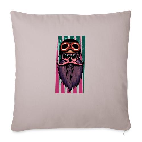 tete de mort hipster crane slull barbe moustache p - Coussin et housse de 45 x 45 cm