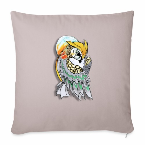 Cosmic owl - Cojín de sofá con relleno 44 x 44 cm