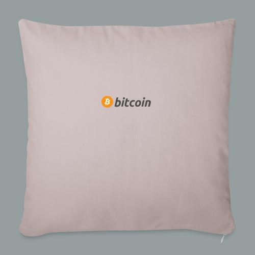 Bitcoin Logo #BTC - Cojín de sofá con relleno 44 x 44 cm