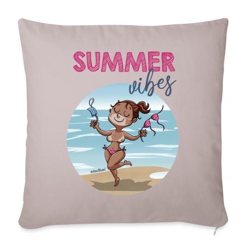 SUMMER vibes - Cojín de sofá con relleno 44 x 44 cm