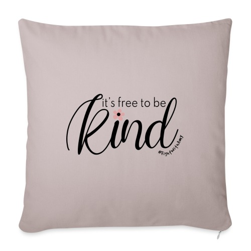 Amy's 'Free to be Kind' design (black txt) - Sofa pillow with filling 45cm x 45cm