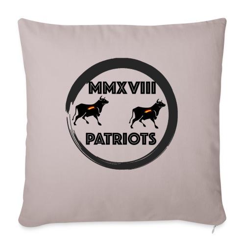 Patriots mmxviii - Cojín de sofá con relleno 44 x 44 cm