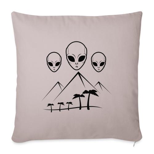 Pyramides & Extraterrestres - Coussin et housse de 45 x 45 cm