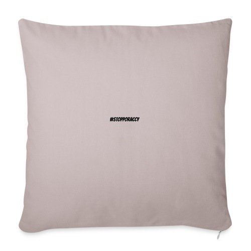 Stop Poraccy - Cuscino da divano 44 x 44 cm con riempimento