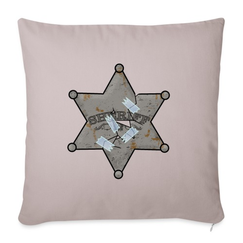 Rusty Sheriff's Badge - Sofa pillow with filling 45cm x 45cm