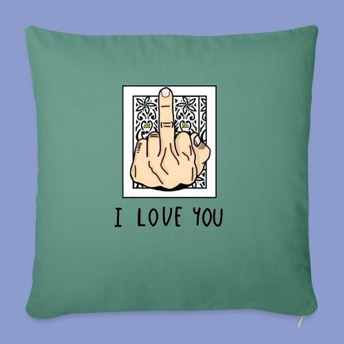 I LOVE YOU - Cuscino da divano 44 x 44 cm con riempimento