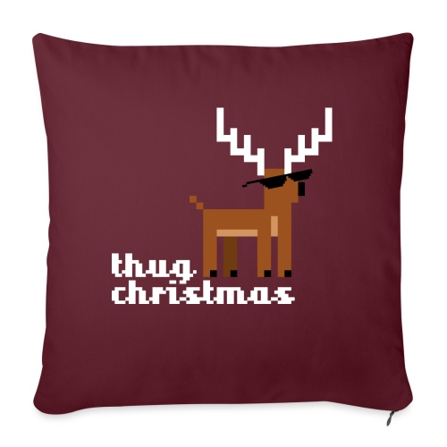 Christmas Xmas Deer Pixel Funny - Sofa pillow with filling 45cm x 45cm