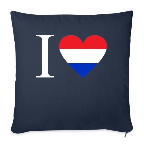 Ik hou van Nederland | Hart met rood wit blauw - Bankkussen met vulling 44 x 44 cm