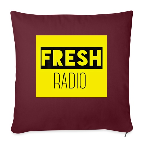 FreshRadio LOGO - Sofa pillow with filling 45cm x 45cm
