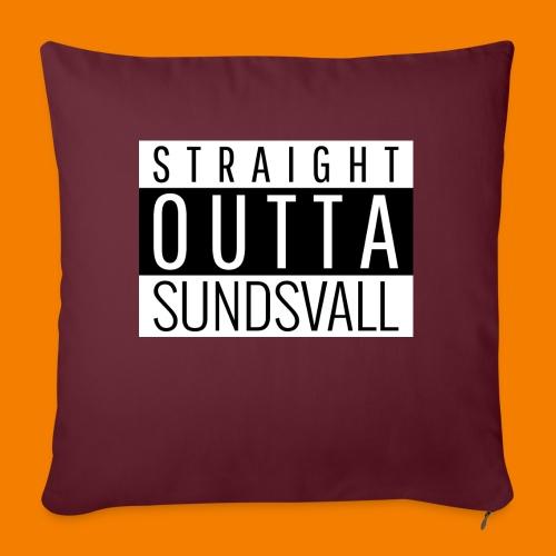 Straight outta Sundsvall - Soffkudde med stoppning 44 x 44 cm