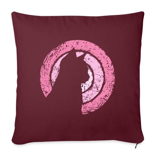 Kattsilhuett rosa - Soffkudde med stoppning 44 x 44 cm