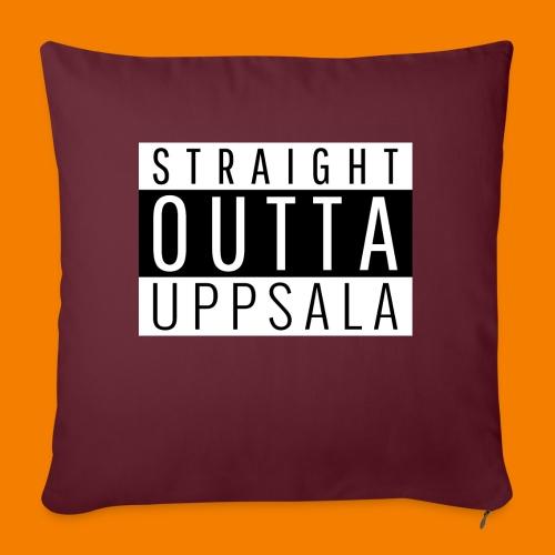 Straight outta Uppsala - Soffkudde med stoppning 44 x 44 cm