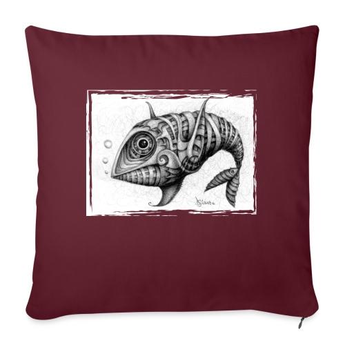 Pesce & Fish - Cuscino da divano 44 x 44 cm con riempimento