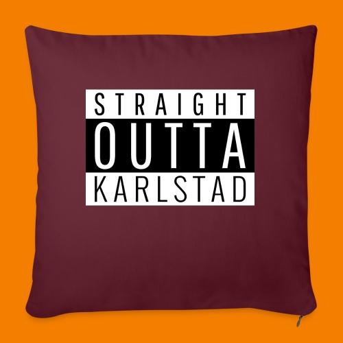 Straight outta Karlstad - Soffkudde med stoppning 44 x 44 cm