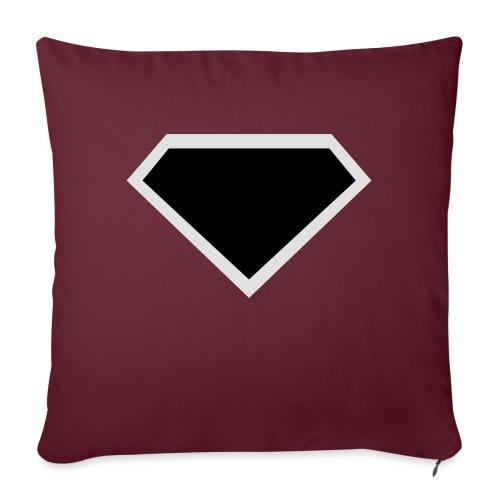 Diamond Black - Two colors customizable - Bankkussen met vulling 44 x 44 cm