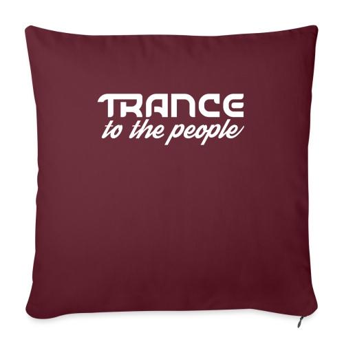 Trance to the People Hvidt Logo - Sofapude med fyld 44 x 44 cm