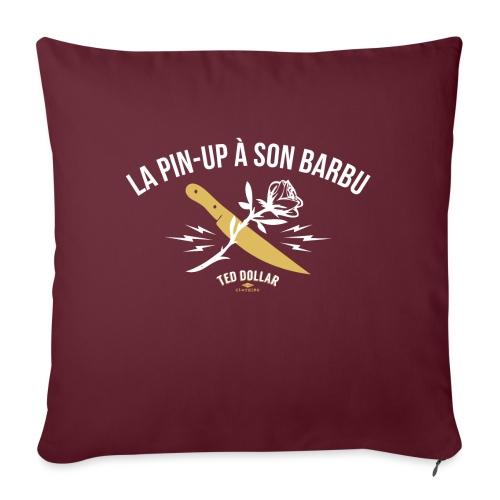 La pin-up à son barbu - Coussin et housse de 45 x 45 cm