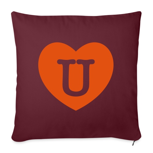 LOVE- U Heart - Sofa pillow with filling 45cm x 45cm