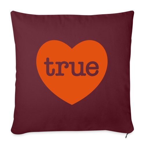 TRUE LOVE Heart - Sofa pillow with filling 45cm x 45cm