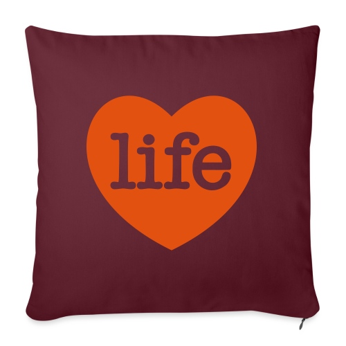 LOVE LIFE heart - Sofa pillow with filling 45cm x 45cm