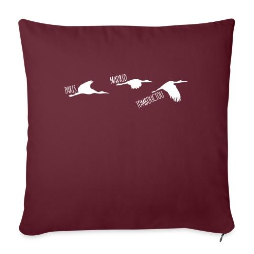 3 horizons oiseaux white - Coussin et housse de 45 x 45 cm