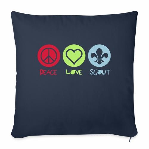 Peace Love Scout - Coussin et housse de 45 x 45 cm