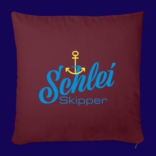 Schlei-Skipper mit Anker - Sofakissen mit Füllung 44 x 44 cm