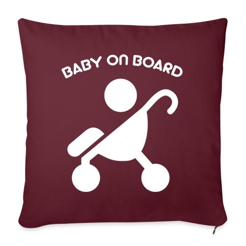 baby on board - Sofakissen mit Füllung 44 x 44 cm