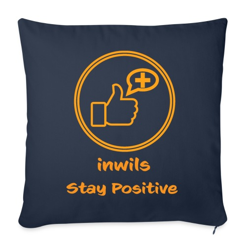 Orange inwils Stay Positive logo - Sofa pillow with filling 45cm x 45cm