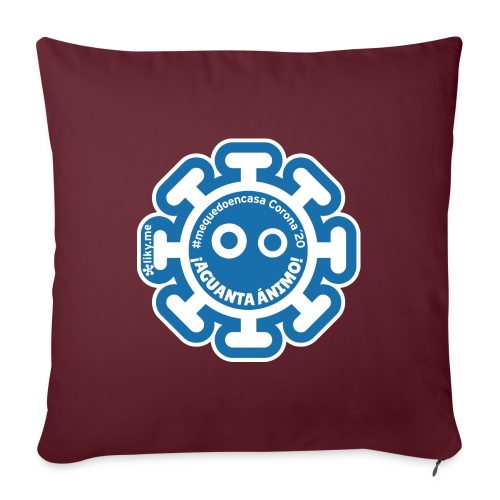 Corona Virus #mequedoencasa azul - Cojín de sofá con relleno 44 x 44 cm