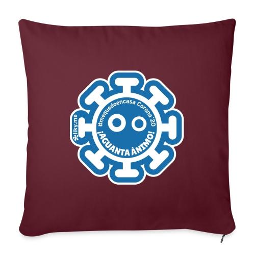 Corona Virus #mequedoencasa blu - Cuscino da divano 44 x 44 cm con riempimento