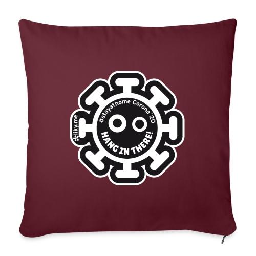 Corona Virus #stayathome black - Sofa pillow with filling 45cm x 45cm