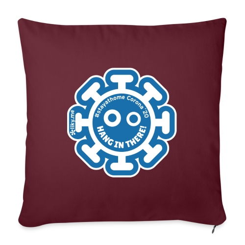 Corona Virus #stayathome blue - Cojín de sofá con relleno 44 x 44 cm