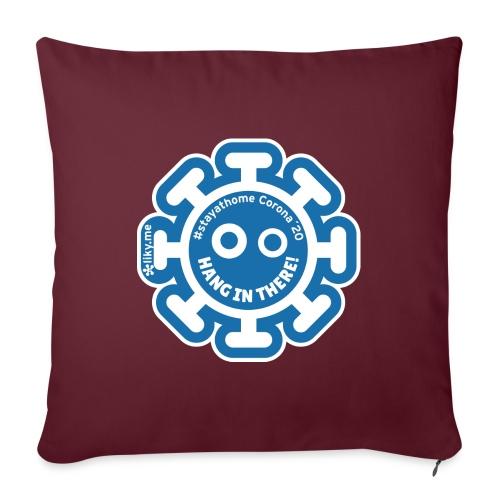 Corona Virus #stayathome blue - Sofa pillow with filling 45cm x 45cm
