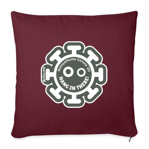 Corona Virus #stayathome gray - Sofa pillow with filling 45cm x 45cm