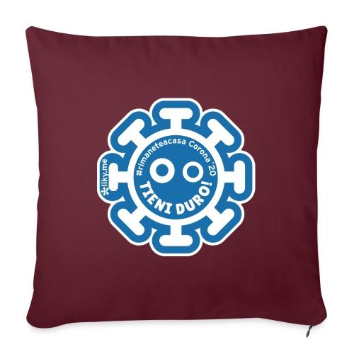 Corona Virus #rimaneteacasa azzurro - Cuscino da divano 44 x 44 cm con riempimento