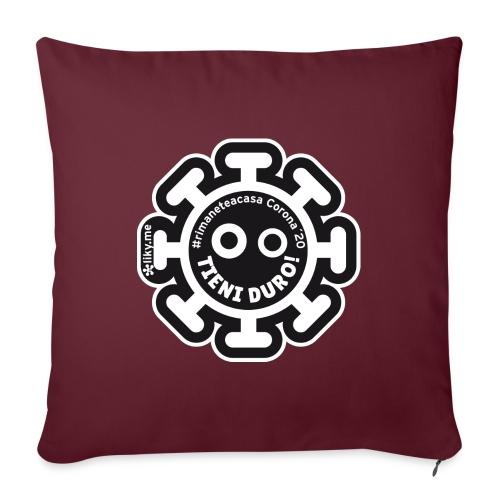 Corona Virus #rimaneteacasa nero - Cojín de sofá con relleno 44 x 44 cm
