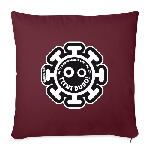Corona Virus #rimaneteacasa nero - Sofa pillow with filling 45cm x 45cm