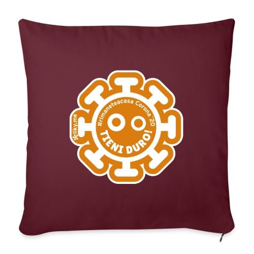 Corona Virus #rimaneteacasa arancione - Cuscino da divano 44 x 44 cm con riempimento