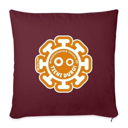 Corona Virus #rimaneteacasa arancione - Sofa pillow with filling 45cm x 45cm