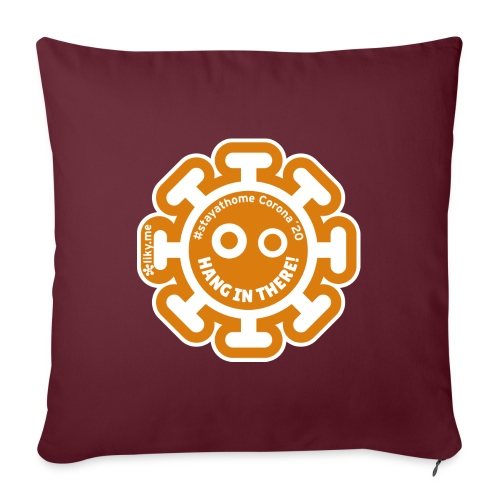 Corona Virus #stayathome orange - Cuscino da divano 44 x 44 cm con riempimento