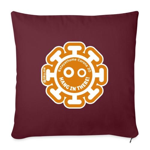 Corona Virus #stayathome orange - Sofa pillow with filling 45cm x 45cm