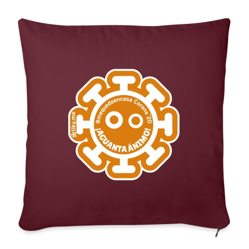 Corona Virus #mequedoencasa orange - Sofa pillow with filling 45cm x 45cm