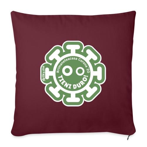 Corona Virus #rimaneteacasa verde - Cojín de sofá con relleno 44 x 44 cm