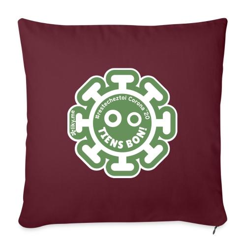 Corona Virus #restecheztoi vert - Cojín de sofá con relleno 44 x 44 cm