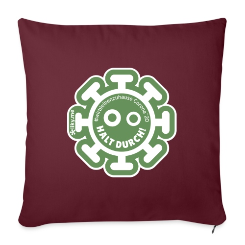 Corona Virus #WirBleibenZuhause grün - Cojín de sofá con relleno 44 x 44 cm