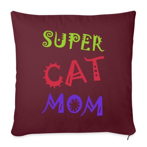 Super cat mom - Bankkussen met vulling 44 x 44 cm